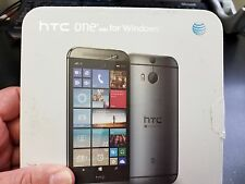 HTC ONE M8 32GB GUNMETAL GREY COLOR AT&T UNLOCKED WINDOWS 8.1
