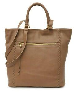 HOBO Ballad Women's Leather Tote Shoulder Bag Satchel Handbag Purse in Graystone