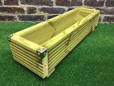 64cm Deluxe Wooden Patio Planter / Window Box Trough Decking Garden Flower Plant