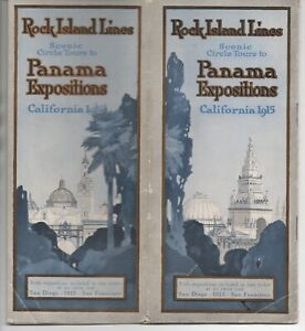 1915 Rock Island Lines Railroad Brochure to the California Expositions PPIE