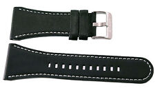 Brand New 34mm Black Leather Levi's Watch Band Strap