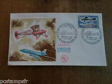 FRANCE 1968, FDC 1° JOUR, LIAISON POSTALE AVION PLANE, timbre 1565 SAINT NAZAIRE