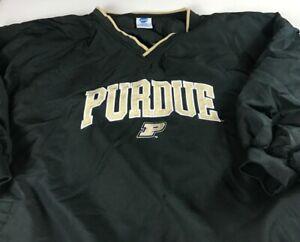 Purdue Boilermakers Windbreaker Mens 3XL Half Short Sleeve Jacket Lined Alumni