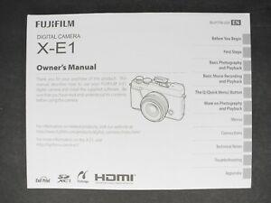 Fuji Fujifilm Genuine X-E1 Camera Instruction Book / Manual / User Guide