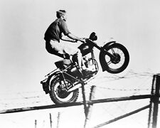 Steve Mcqueen The Great Escape On Bike 16x20 Canvas Giclee Jumping Fence Classic