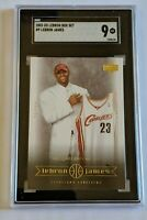 2003 UD LEBRON BOX SET #9 LEBRON JAMES ROOKIE SGC 9 LN