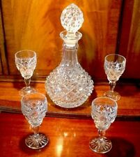 VINTAGE FABULOUS DECANTER & WINE GLASSES MATCHING SET GIN CLARET HIGH QUALITY