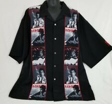Scareface Casual Black Button Front Shirt 4XL Big and Tall