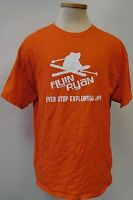 FLYIN RYAN SUGARBUSH NEVER STOP EXPLORING LIFE ORANGE T SHIRT MENS SIZE XL EUC