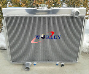 4 ROW ALUMINUM RADIATOR FOR 1967-70 Ford Mustang/Mercury Cougar/XR7/Torino AT/MT