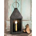 Revere Lantern Light with punched STAR in Dark brown Tin