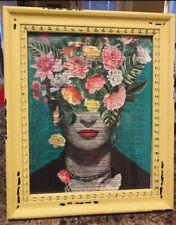 Frida Kahlo Art Print Vintage Dictionary Page Unframed