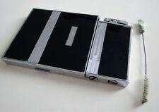 Rare Ronson Enamel LARGE ART DECO Cigarette Lighter Combination Case Vintage