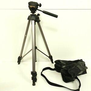 Vanguard VT-152 Portable Tripod Gold Tone Black Carry Case Clean Condition B7