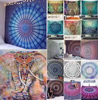 Indian Mandala Tapestry Hippie Throw Yoga Mat Picnic Camp Blanket Mats Art Decor