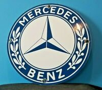 VINTAGE MERCEDES BENZ PORCELAIN GAS AUTOMOBILE SERVICE STATION DEALERSHIP SIGN