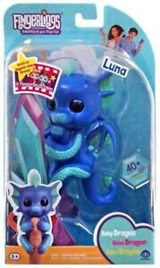 WowWee Fingerlings Baby Dragon LUNA Interactive Toy (Purple, Turquoise, Glitter)