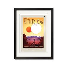Nasa Exoplanet Travel Bureau Planet Kepler-16b Retro Poster Print