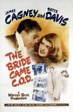 THE BRIDE CAME C.O.D. Movie POSTER 27x40 James Cagney Bette Davis Stuart Erwin