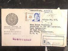 1964 Mexico City Mexico Airmail Cover Anthropology Institute To New Haven USA