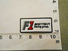 RARE BENETTON FORMULA 1 F1 Racing Group patch  with FREE shipping