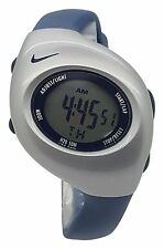 New Nike Kids Triax Junior WR0017 Explorer Blue and Silver Digital 38mm Watch