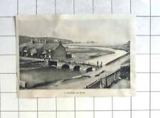 1898 Interesting Picture Of Bridge Over The River At Bude