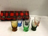 Vintage Shot Glasses Whisky Cordial LIQUEUR Aperitif Shot Glasses  6 Cut Star