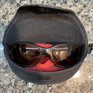 BOLLE HABU Vintage Tortoise Polarized Wrap Sunglasses Frame Original Case 11350