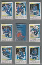 1991-92 Panini Stickers Quebec Nordiques Complete Team Set (16)