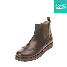 Rrp €125 Florens Leather Ankle Boots Eu 40 Uk 6 Us 7 Brogue Made in Italy