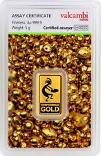 Goldbarren 5g 5 Gramm Valcambi Suisse Responsible-Gold Auropelli 999.9 gold bar