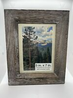 Lot Of 5 - 5x7 / 4x6 Wooden Photo Picture Frame Wall Hanging Rustic Weathered