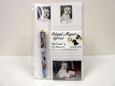 West Highland White Terrier List Note Pads Magnet Pen Stationery Gift Pack WEH10
