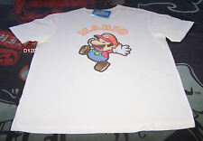 Nintendo Super Paper Mario Mens White Printed T Shirt Size XXL New