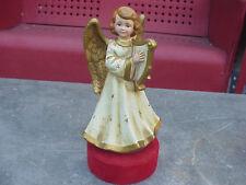 New listing Vintage Angel not Nativity Lrg Statue Harp Paper Mache