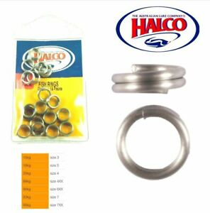 Halco Ultra Strong Fish Split Rings