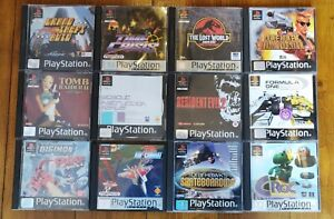 Playstation 1 Games Bundle 12 Games with Instructions Grand Theft Auto/Tony hawk