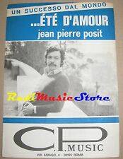 Jean Pierre posit ete D Amour RARE Sheet Music Single NO CD LP DVD MC