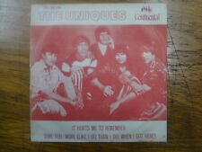 "Promo 7"" Single P/S 45 - THE UNIQUES - Its Hurts Me To Remember - 1969 - Brazil"