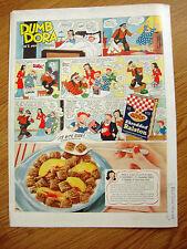 1940 Ralston Wheat Cereal Ad  Comic Art DUMB DORA 1940 Signet Whiskey Ad July 4