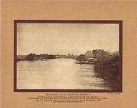 Antique Sacramento River California Albrecht Photo Gravure Print
