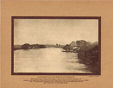 Antique Sacramento River California Albrecht Photo Gravure Print