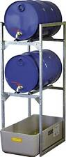 CEMO Fassregal 7081 Fasslager Faßregal für 2x 60 Liter-fässer mit Auffangwanne