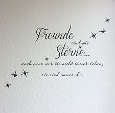 Wandtattoo Freunde sind wie Sterne Sprüche Wohnzimmer Flur Zitate Wandtatoo 6c
