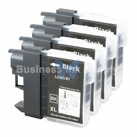 4 BLACK LC65 Ink Set for Brother MFC-5890CN MFC-5895CW MFC-6490CW MFC-6890CDW
