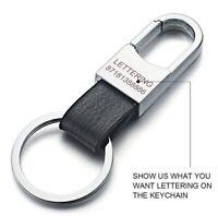 Custom Lettering Keychain Keyring Personalized Leather Car Vehicle Key tag