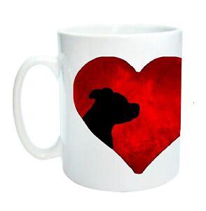 Staffordshire Bull Terrier Mug Heart Staffie Mug Modern Design Xmas Gift