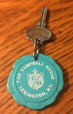 Vintage The Campbell House Room Key 173 Lexington Kentucky Teal Round Fob