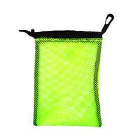 Dive Swimming Drawstring Mesh Bag Storage for Diving Scuba Snorkel, Yellow